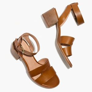 NEW Madewell The Kate Sandals Leather Heels